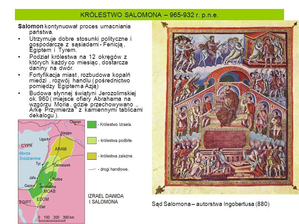 KRÓLESTWO SALOMONA – 965-932 r. p.n.e.