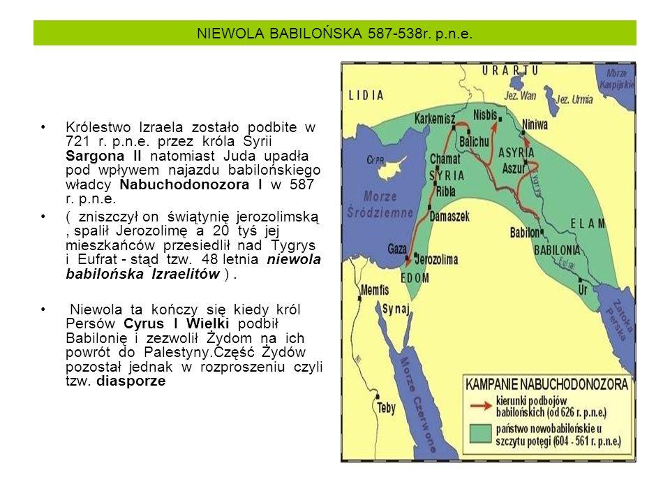 NIEWOLA BABILOŃSKA 587-538r. p.n.e.