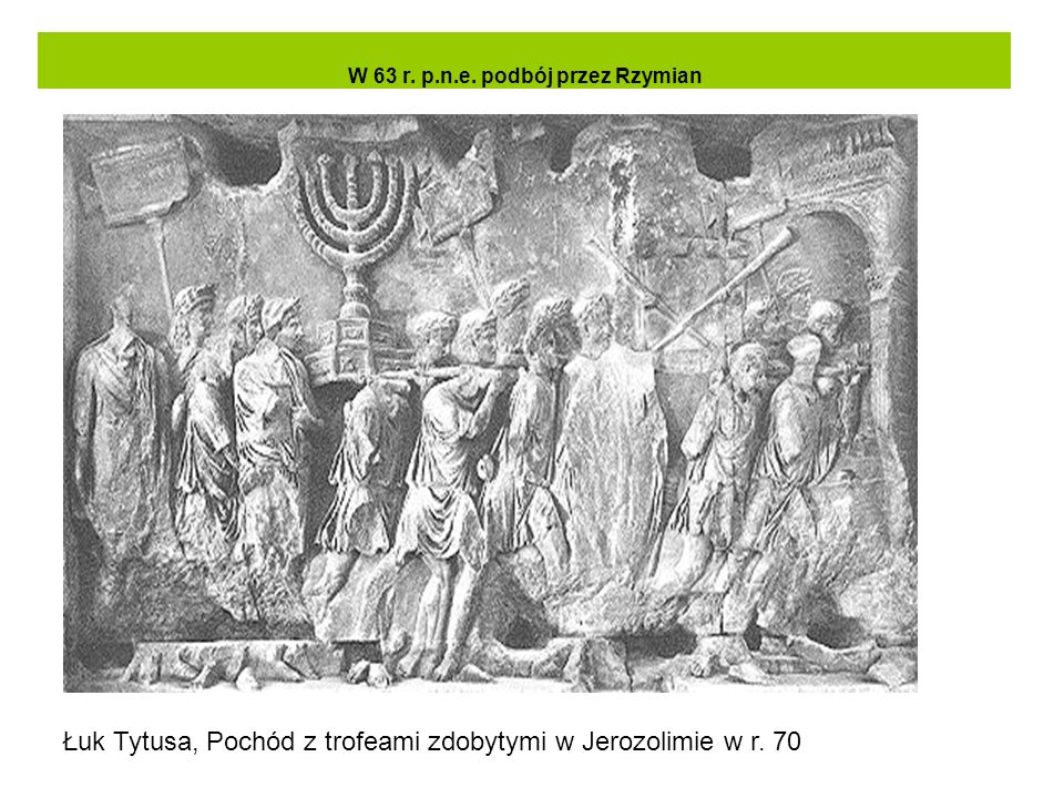 W 63 r. p.n.e. podbój przez Rzymian