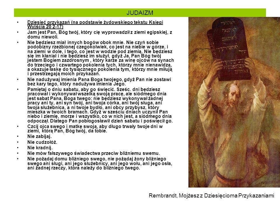 JUDAIZM Rembrandt, Mojżesz z Dziesięcioma Przykazaniami