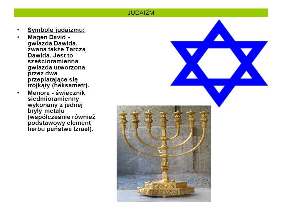 JUDAIZM Symbole judaizmu: