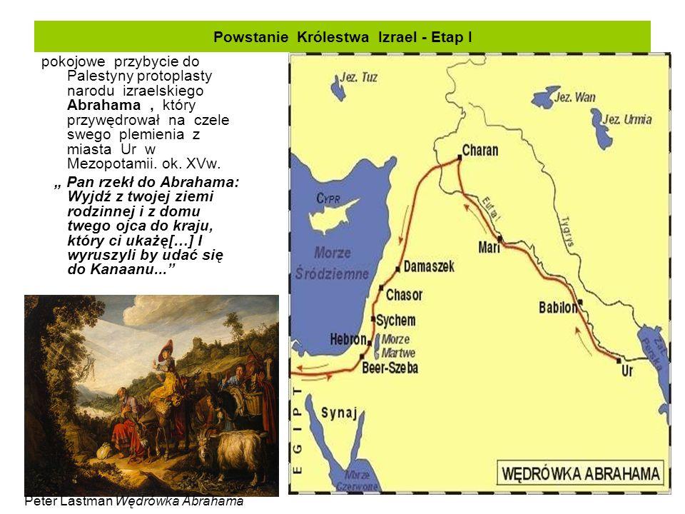Powstanie Królestwa Izrael - Etap I