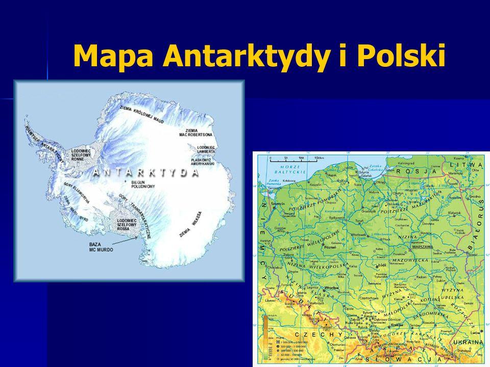 Mapa Antarktydy i Polski