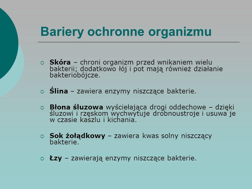 Bariery ochronne organizmu