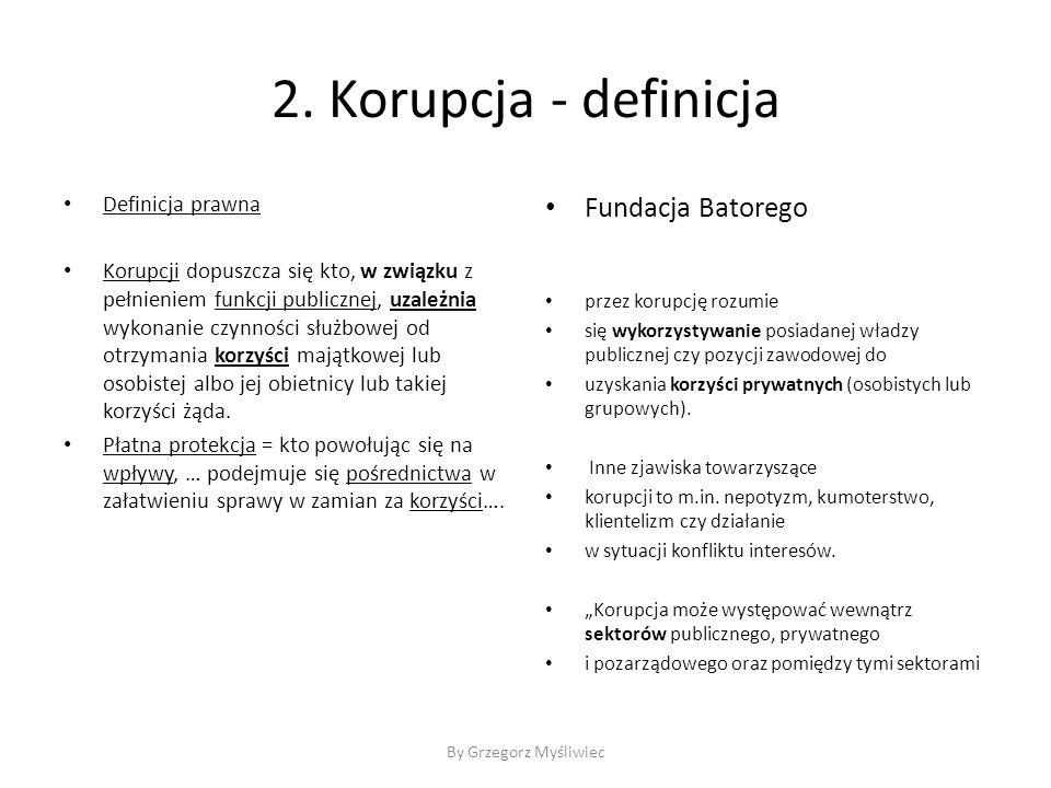 2. Korupcja - definicja Fundacja Batorego Definicja prawna