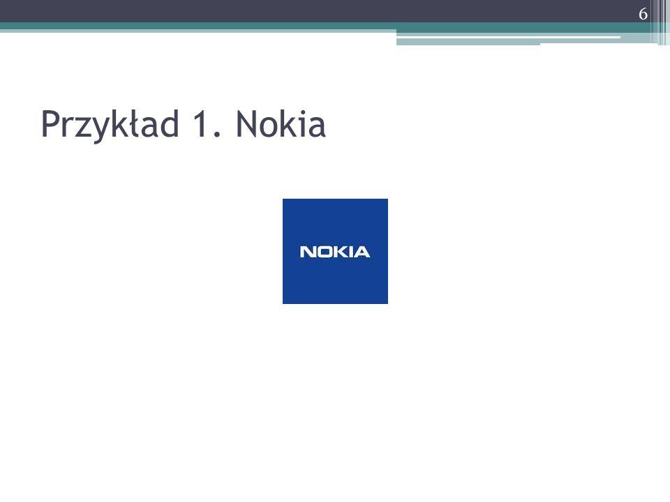 Przykład 1. Nokia