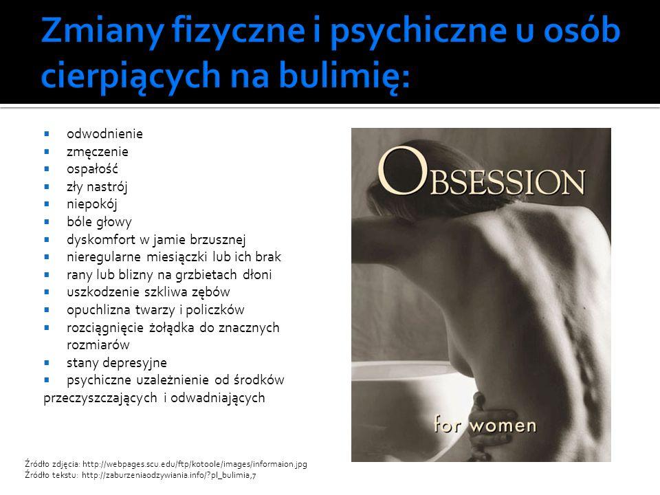 Zmiany fizyczne i psychiczne u osób cierpiących na bulimię: