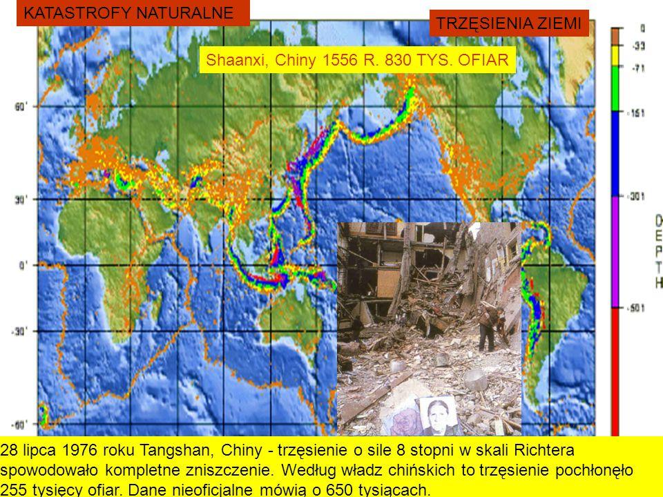 KATASTROFY NATURALNE TRZĘSIENIA ZIEMI. Shaanxi, Chiny 1556 R. 830 TYS. OFIAR.