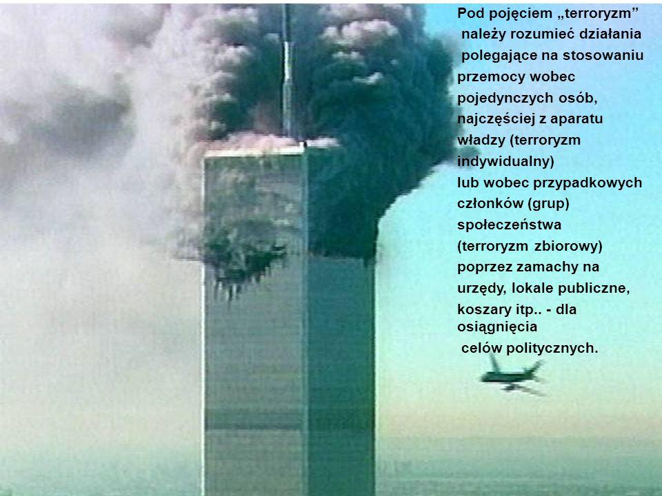 """Pod pojęciem """"terroryzm"""