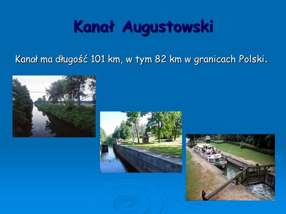 Kanał ma długość 101 km, w tym 82 km w granicach Polski.