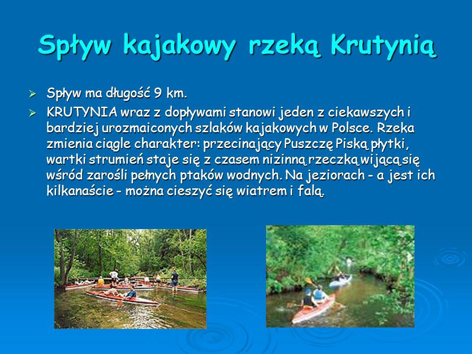 Spływ kajakowy rzeką Krutynią