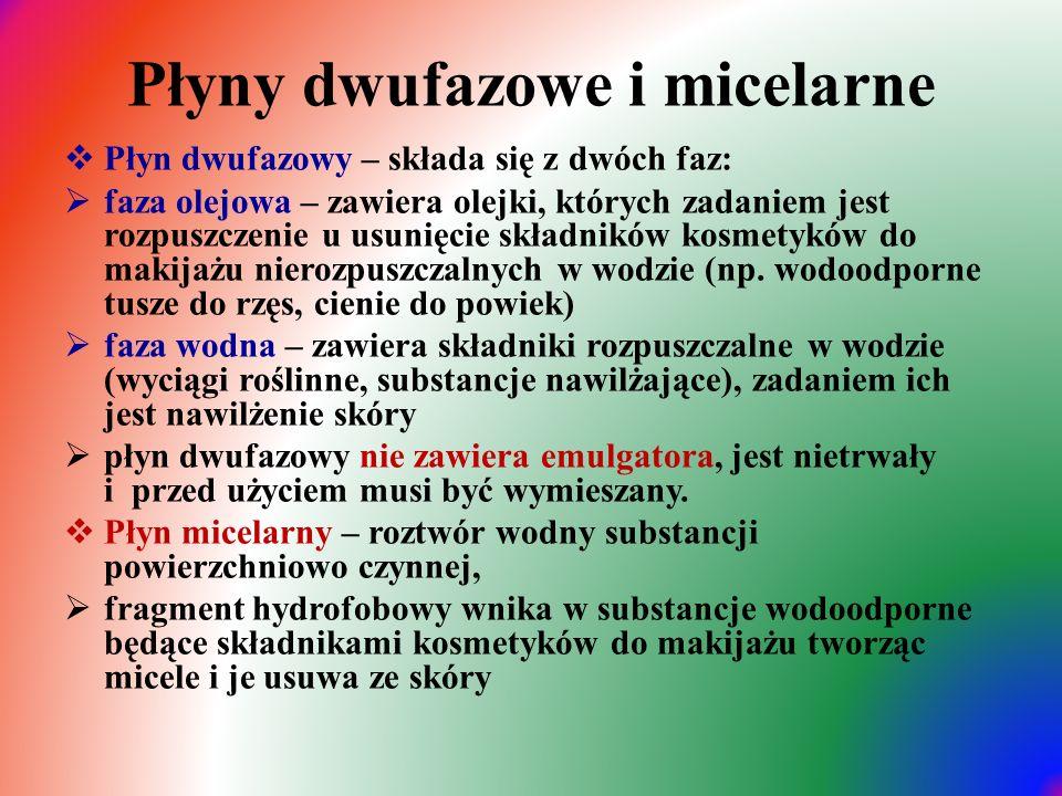 Płyny dwufazowe i micelarne