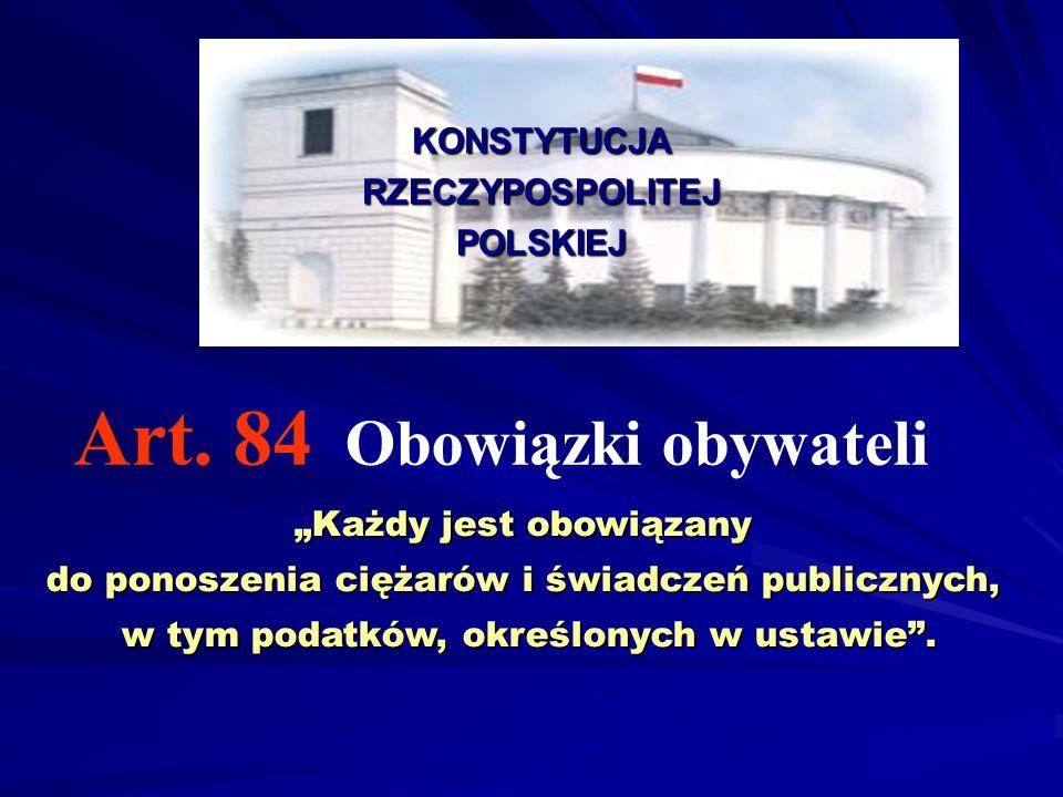 Art. 84 Obowiązki obywateli