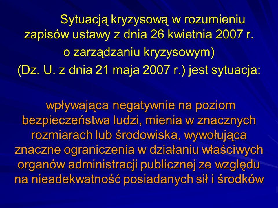 o zarządzaniu kryzysowym)