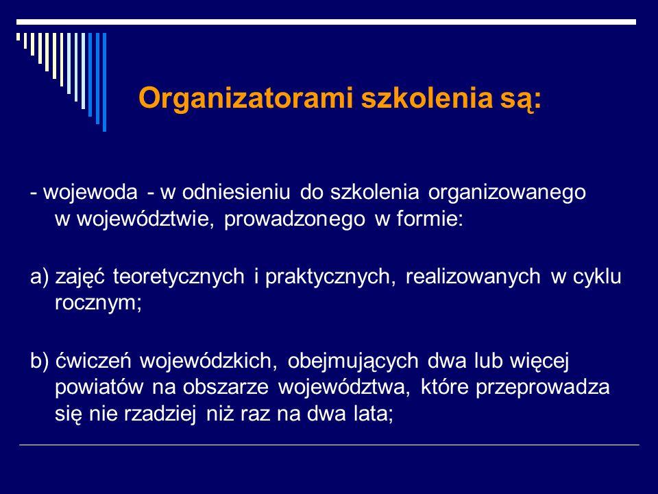 Organizatorami szkolenia są:
