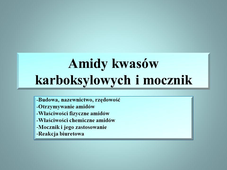 Amidy kwasów karboksylowych i mocznik