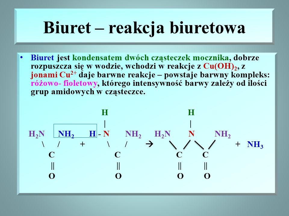 Biuret – reakcja biuretowa