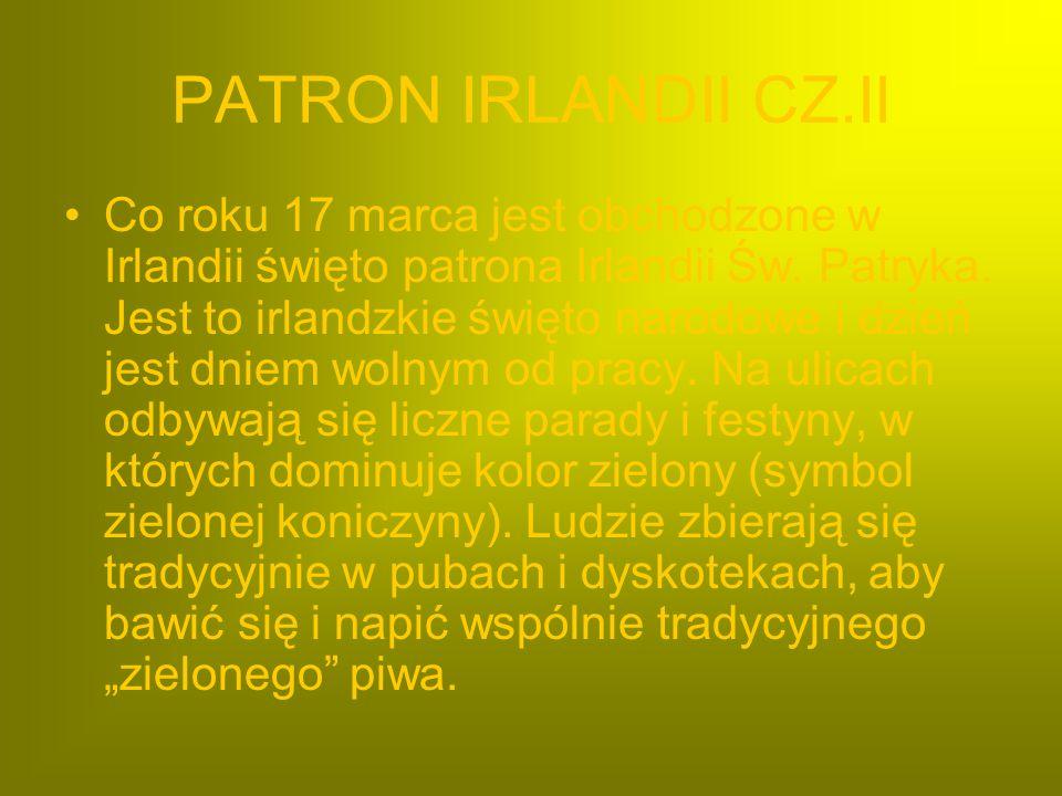 PATRON IRLANDII CZ.II