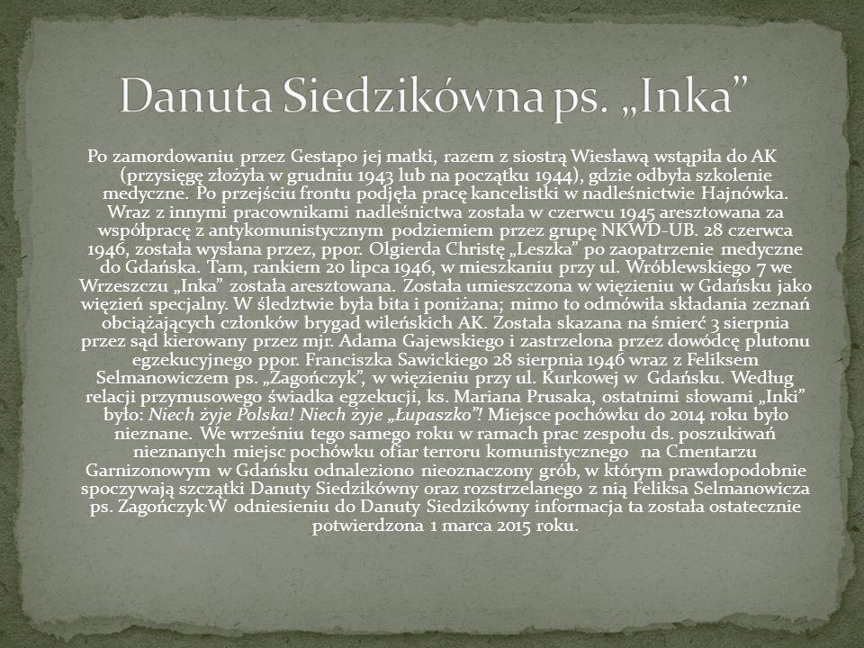 "Danuta Siedzikówna ps. ""Inka"