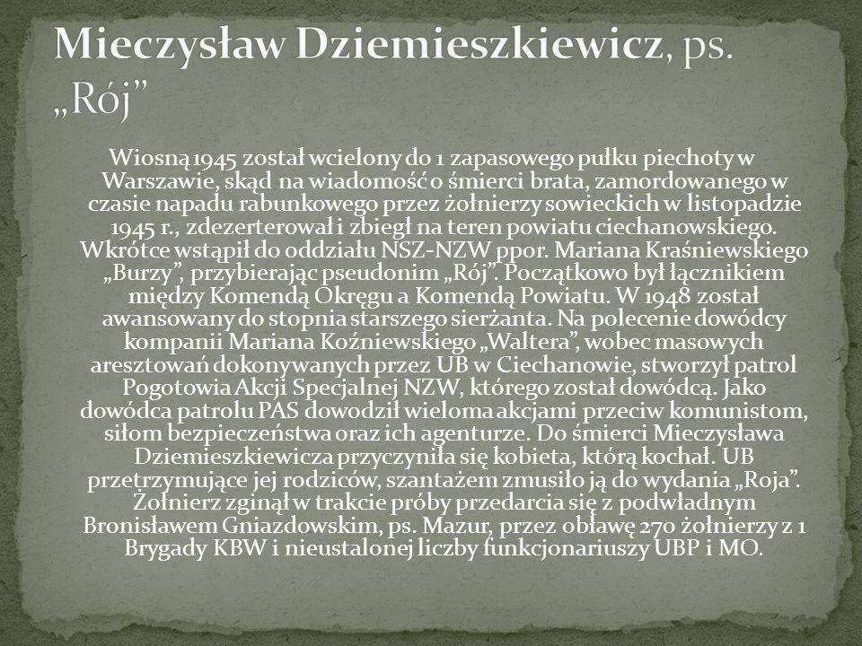 """Mieczysław Dziemieszkiewicz, ps. """"Rój"""