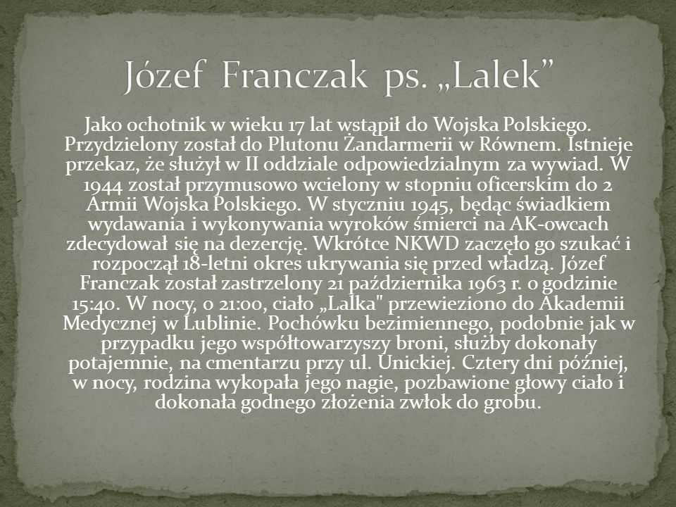 """Józef Franczak ps. """"Lalek"""