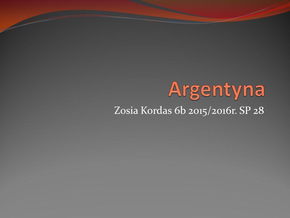 Argentyna Zosia Kordas 6b 2015/2016r. SP 28