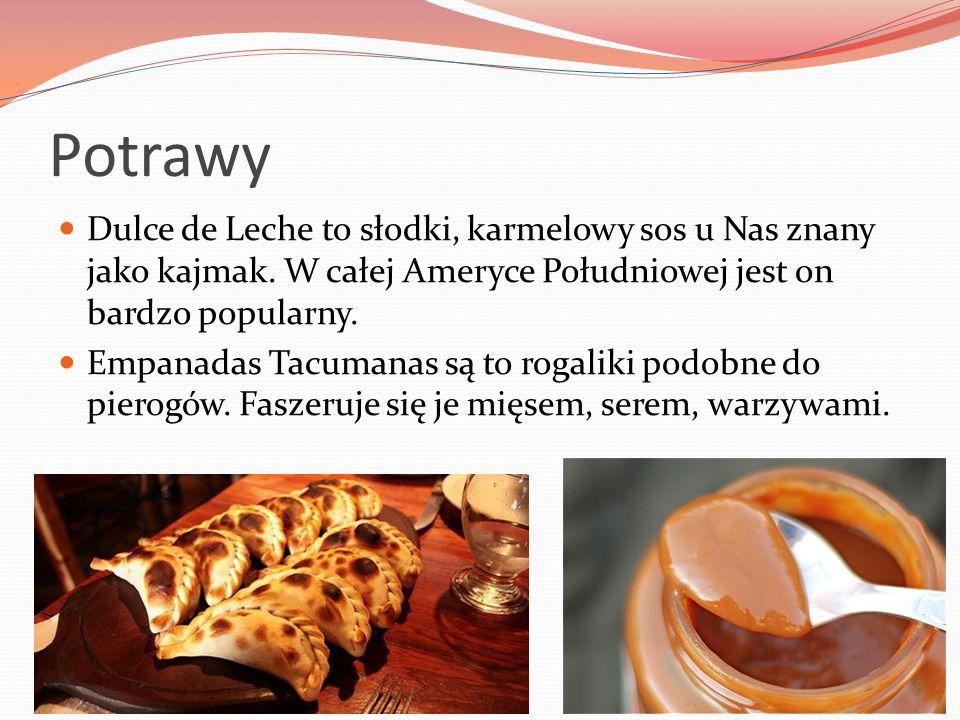 Potrawy Dulce de Leche to słodki, karmelowy sos u Nas znany jako kajmak. W całej Ameryce Południowej jest on bardzo popularny.