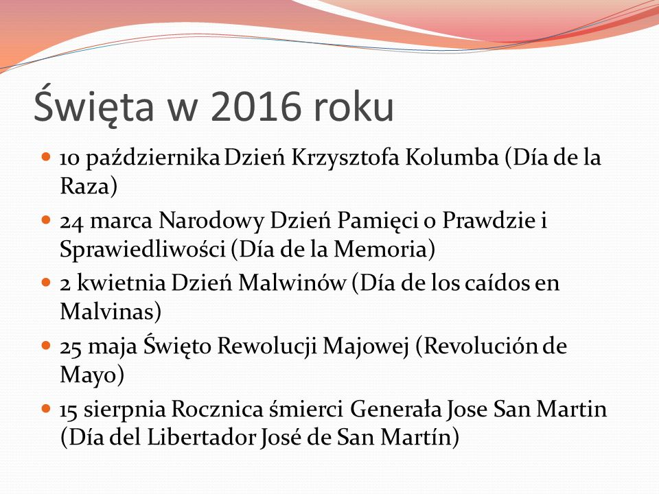 Święta w 2016 roku 10 października Dzień Krzysztofa Kolumba (Día de la Raza)