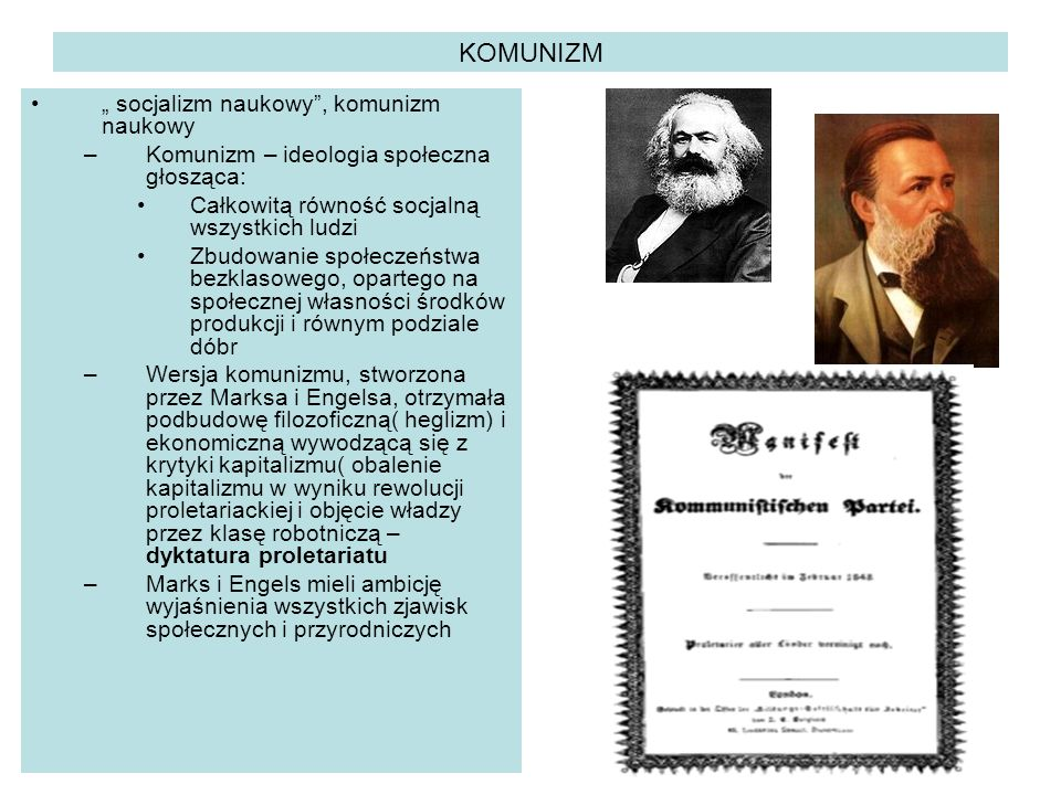 "KOMUNIZM "" socjalizm naukowy , komunizm naukowy"