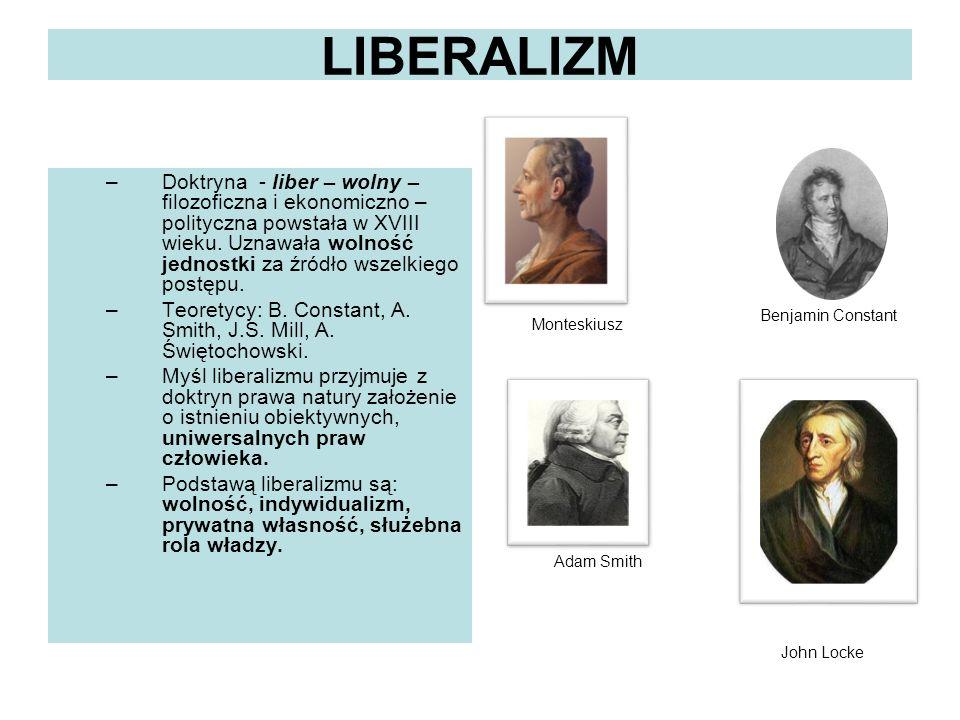 LIBERALIZM Monteskiusz.