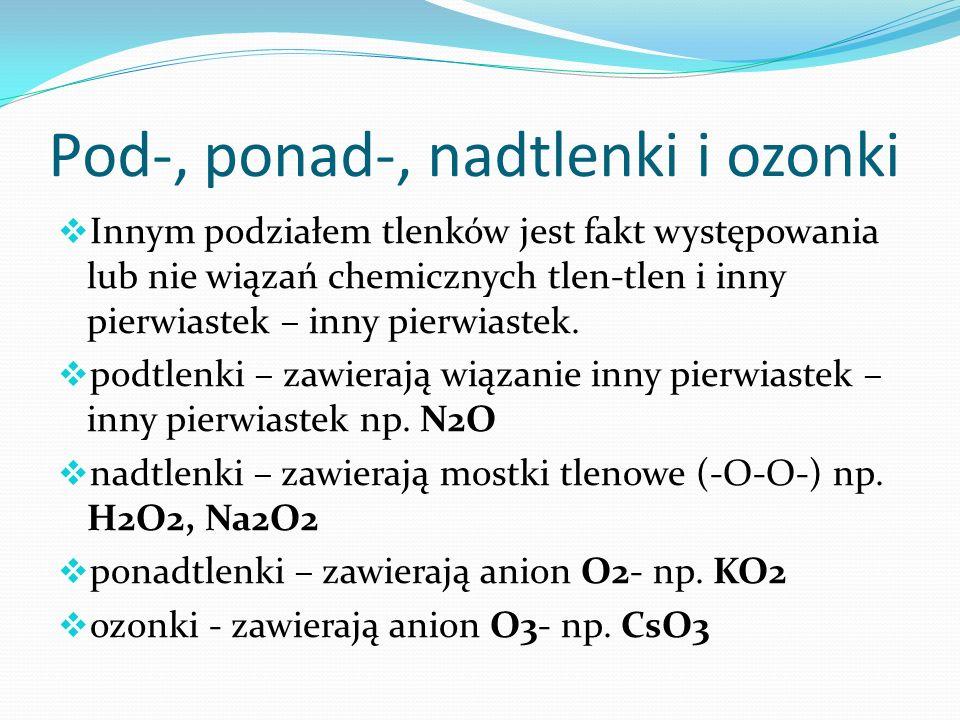 Pod-, ponad-, nadtlenki i ozonki