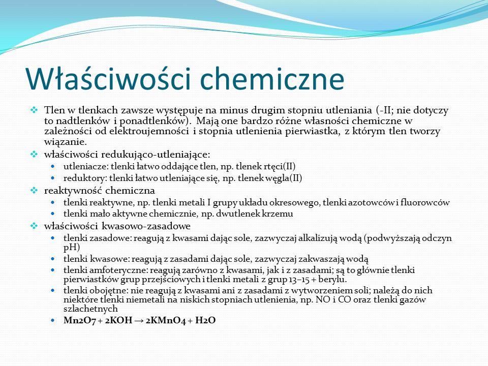 Właściwości chemiczne