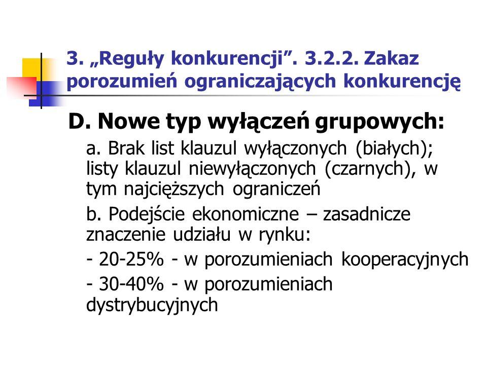 D. Nowe typ wyłączeń grupowych: