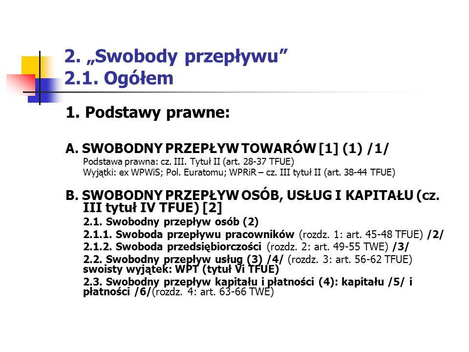 """2. """"Swobody przepływu 2.1. Ogółem"""