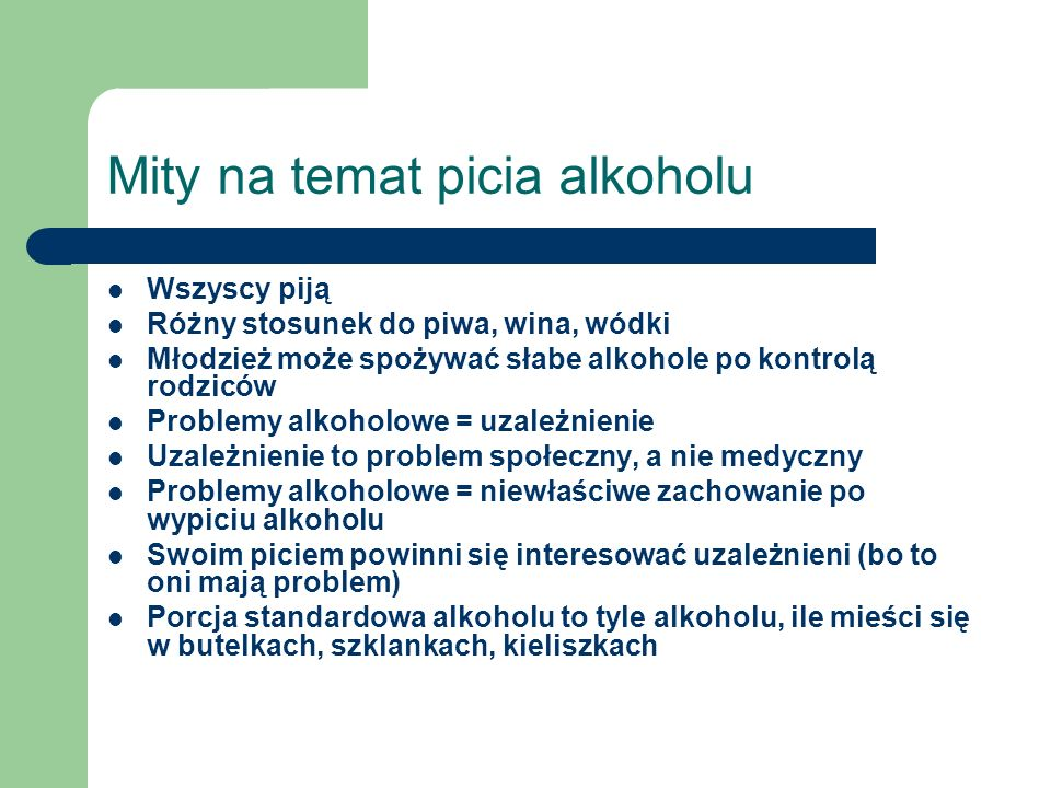 Mity na temat picia alkoholu
