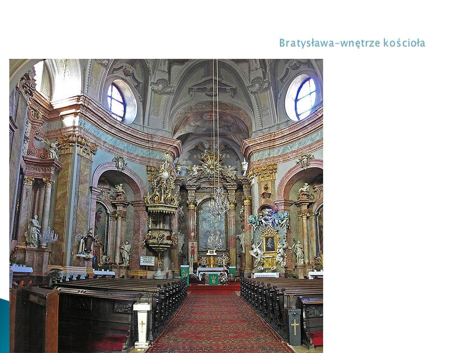 Bratysława-wnętrze kościoła