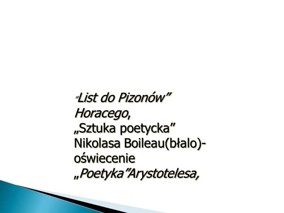 """""""Sztuka poetycka Nikolasa Boileau(błalo)- oświecenie"""