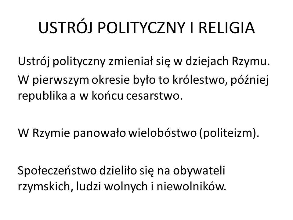 USTRÓJ POLITYCZNY I RELIGIA