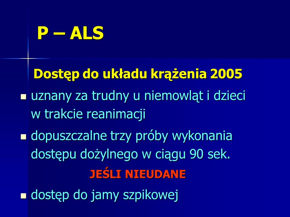 Dostęp do układu krążenia 2005