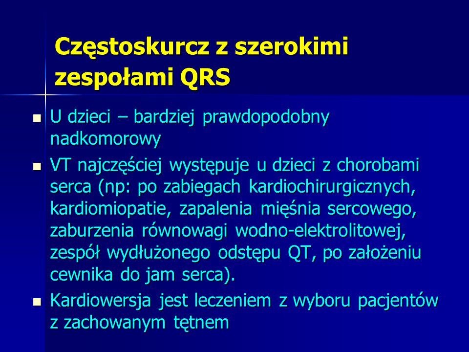 Częstoskurcz z szerokimi zespołami QRS