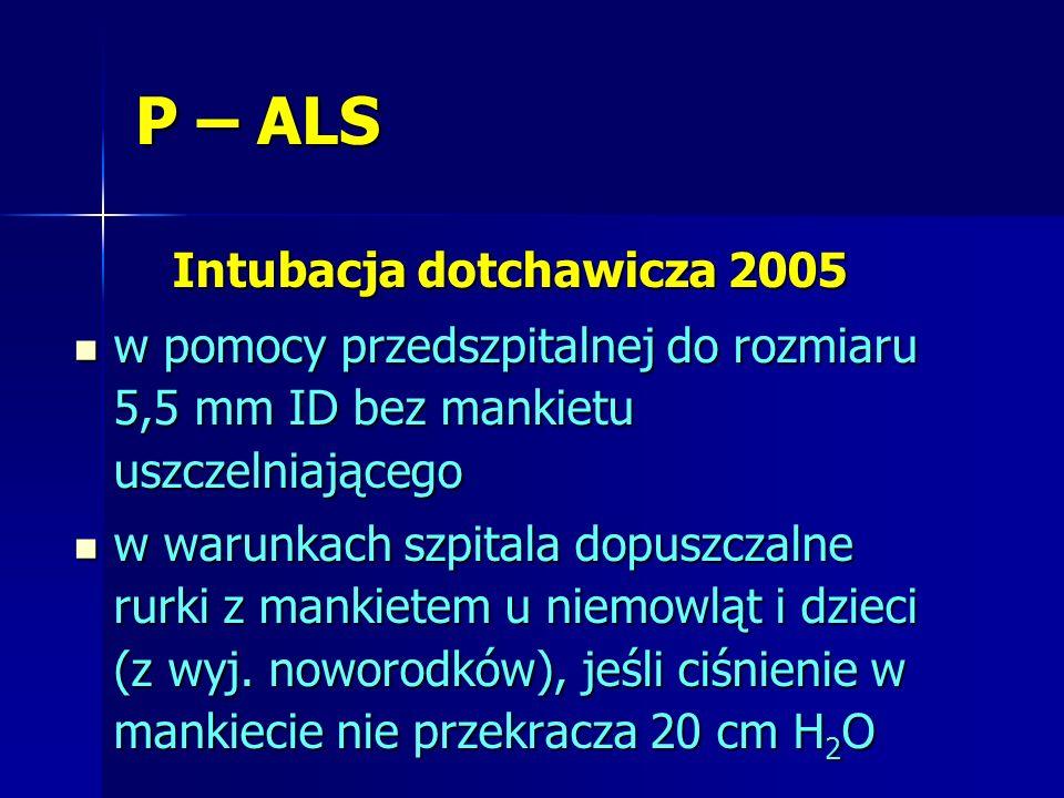 Intubacja dotchawicza 2005