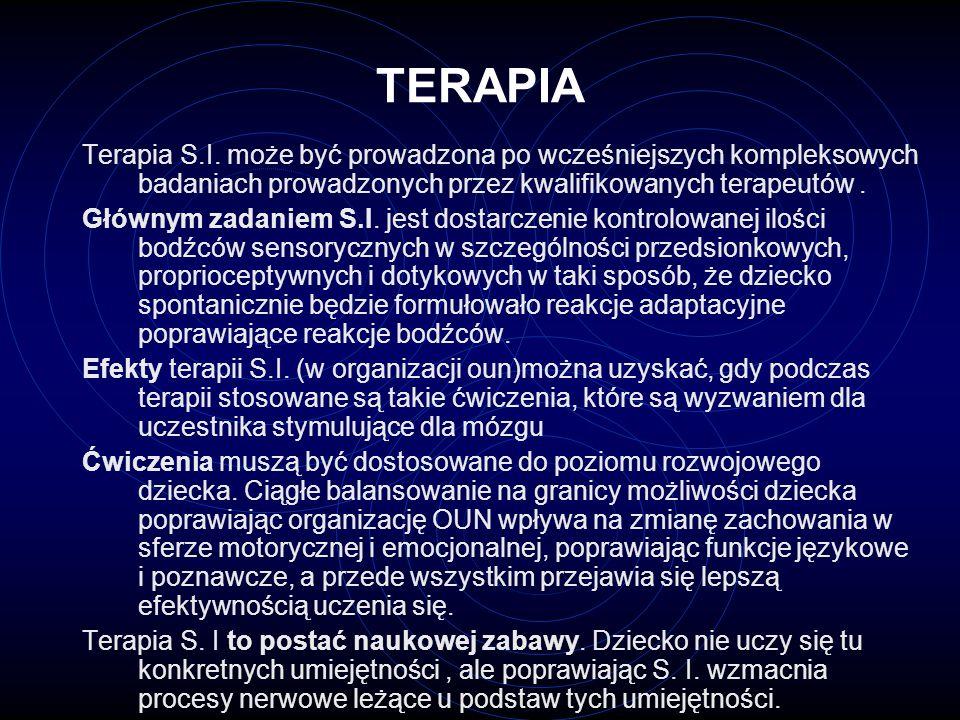 TERAPIA Terapia S.I. może być prowadzona po wcześniejszych kompleksowych badaniach prowadzonych przez kwalifikowanych terapeutów .