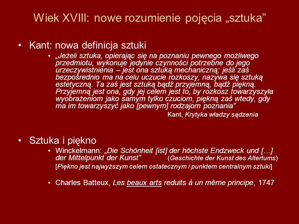 """Wiek XVIII: nowe rozumienie pojęcia """"sztuka"""