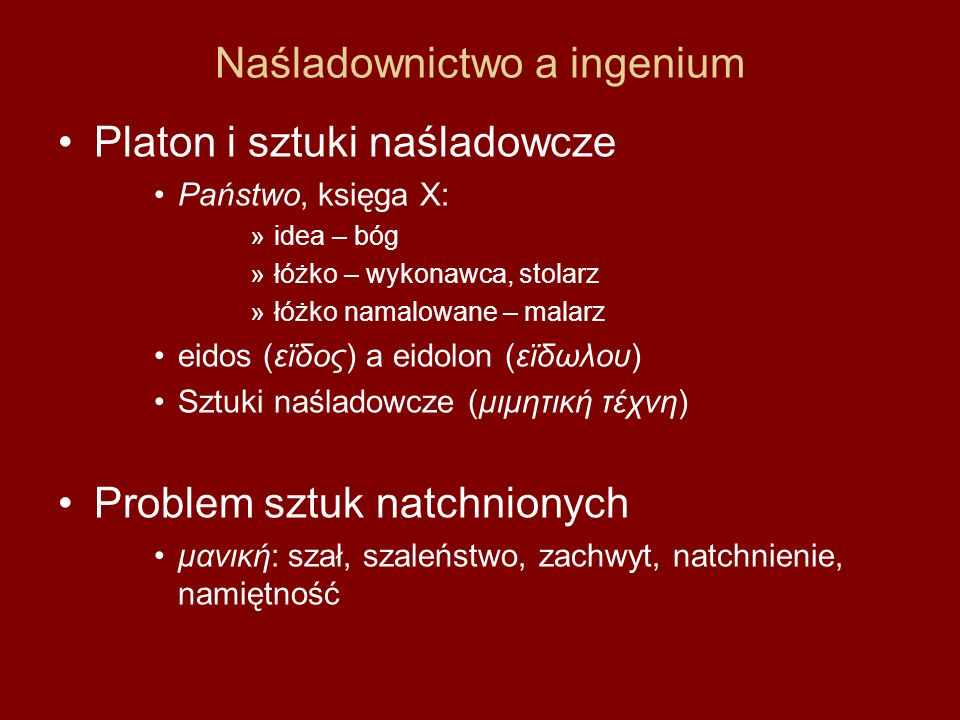 Naśladownictwo a ingenium