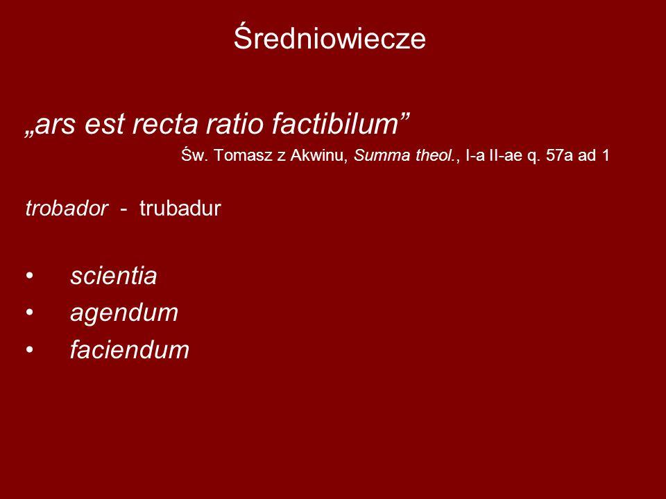 """""""ars est recta ratio factibilum"""