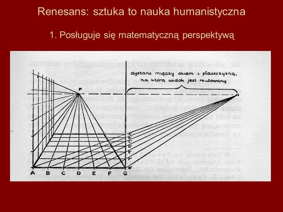 Renesans: sztuka to nauka humanistyczna 1