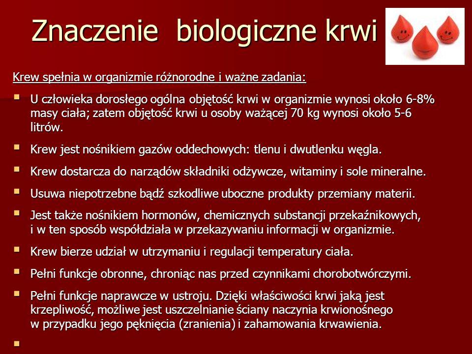 Znaczenie biologiczne krwi