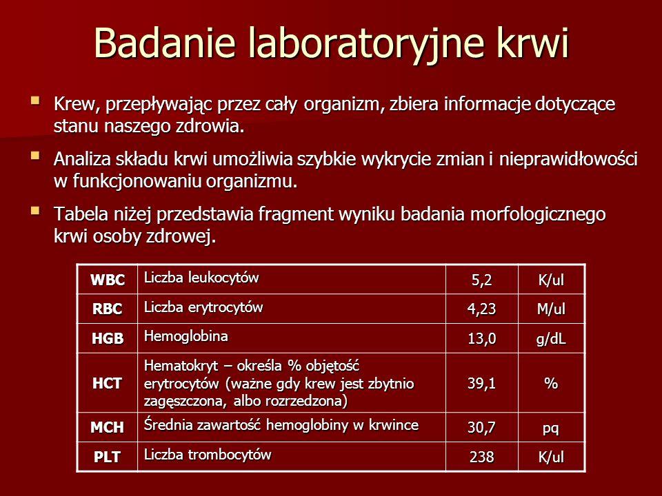 Badanie laboratoryjne krwi