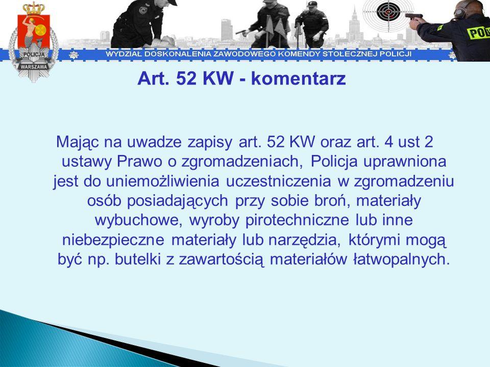 Art. 52 KW - komentarz