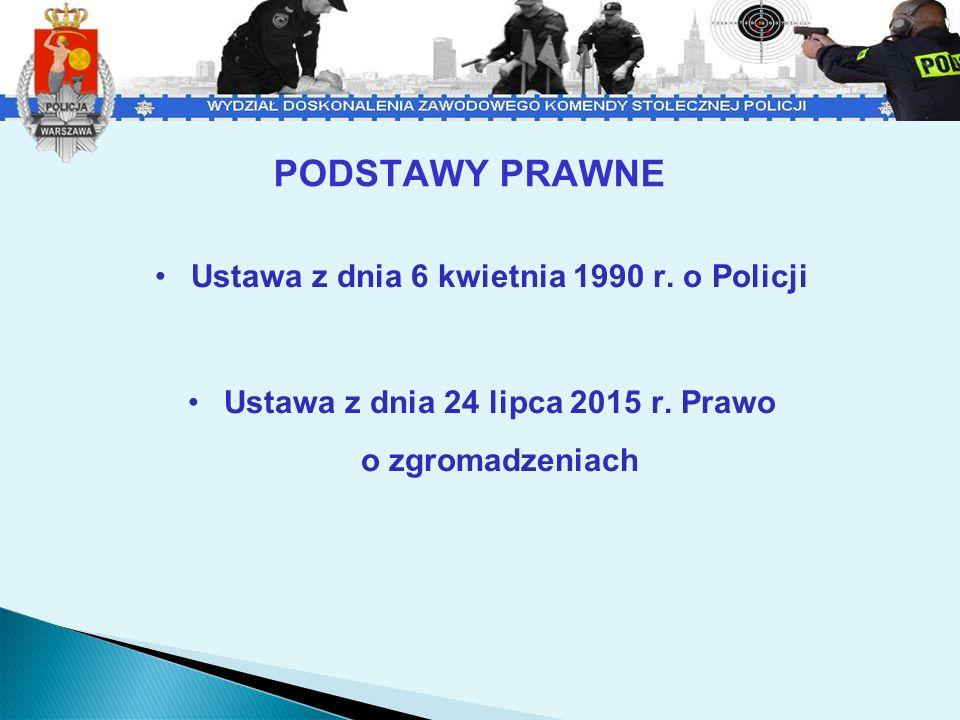 PODSTAWY PRAWNE Ustawa z dnia 6 kwietnia 1990 r. o Policji